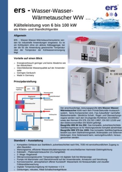 ers-Kälte GmbH - Wasser-Wasser-Wärmetauscher